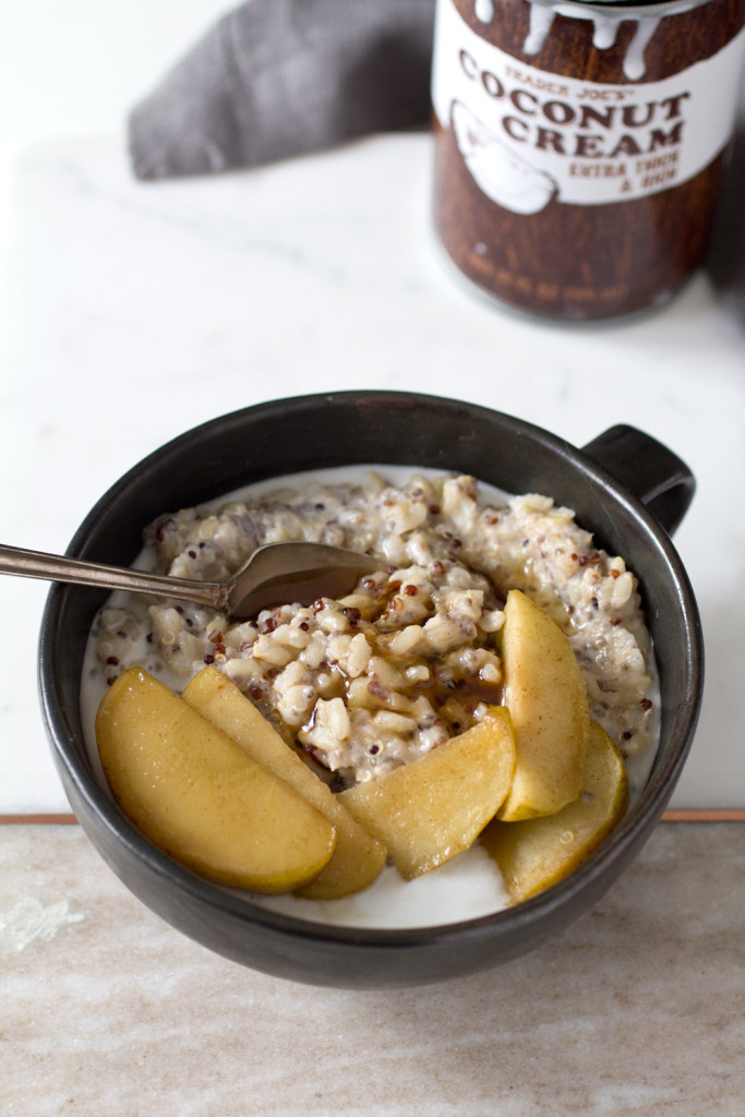 brown rice and chia breakfast pudding