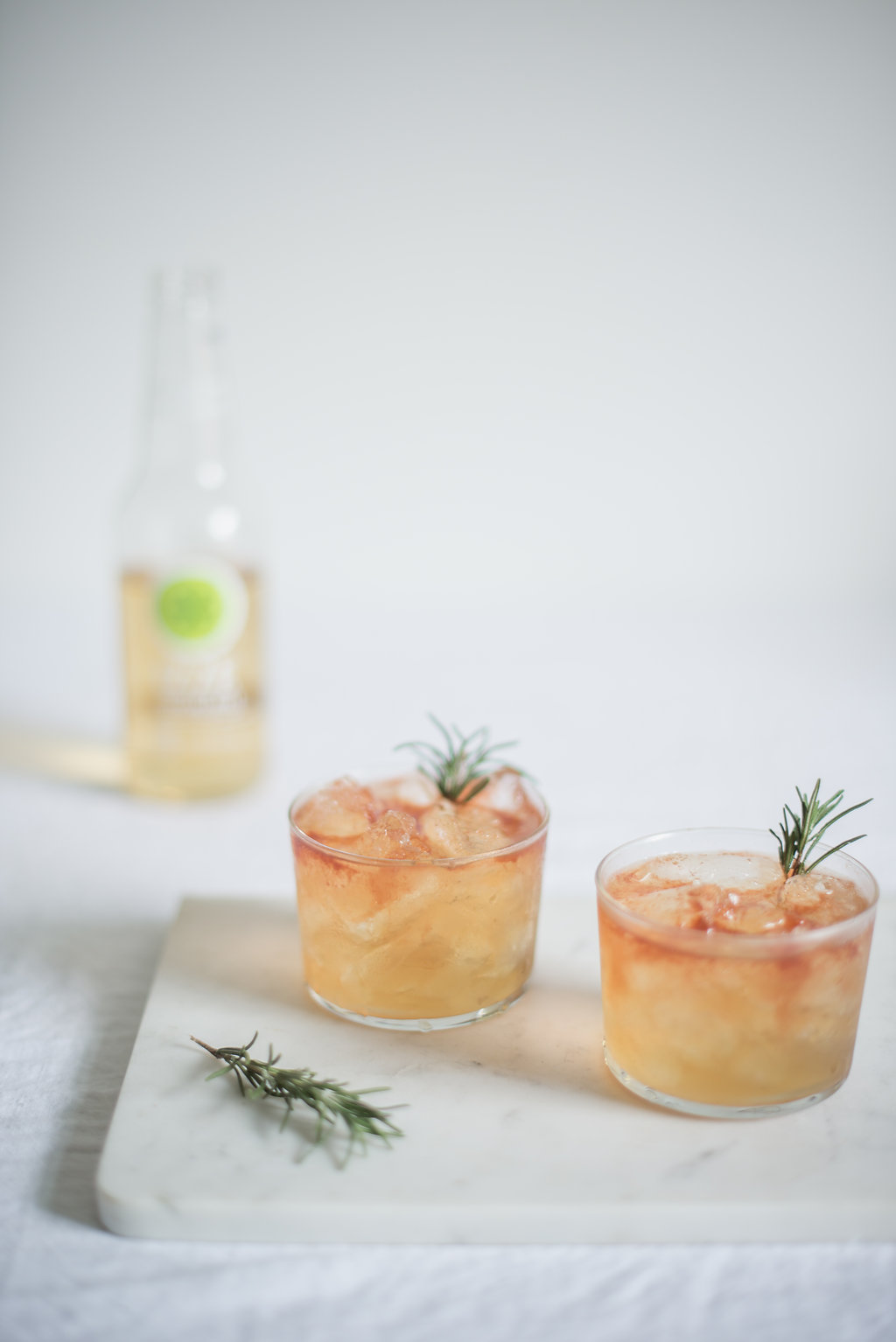 sparkling apple + whiskey holiday cocktail via Anne Sage