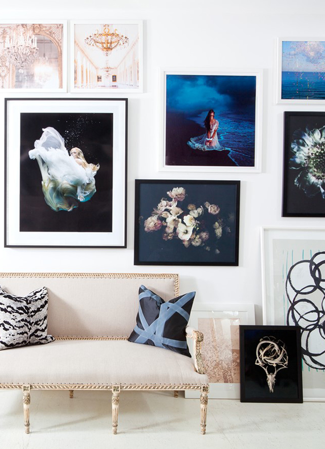 gallery wall inspiration via Anne Sage