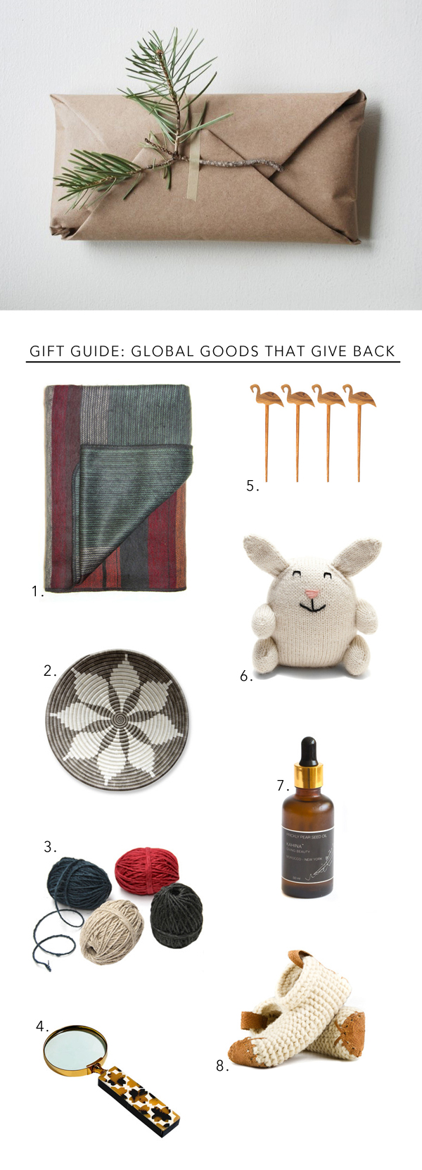 stylish gifts that give back holiday gift guide via Anne Sage