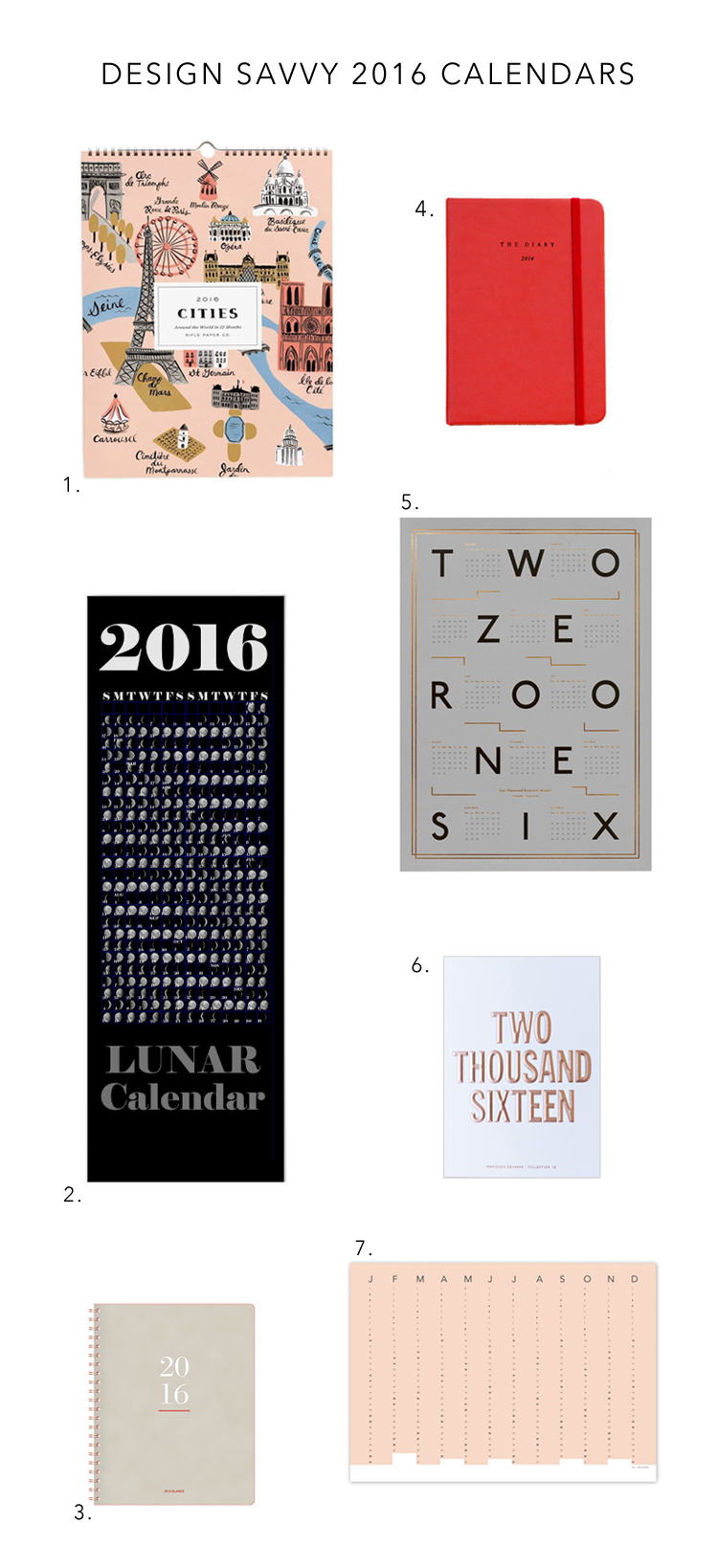 the best modern 2016 calendars for getting organized in style! via Anne Sage