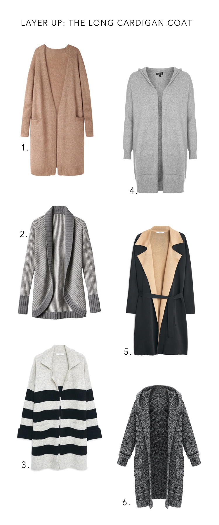 the best long cardigan coats for winter layering in style || Anne Sage
