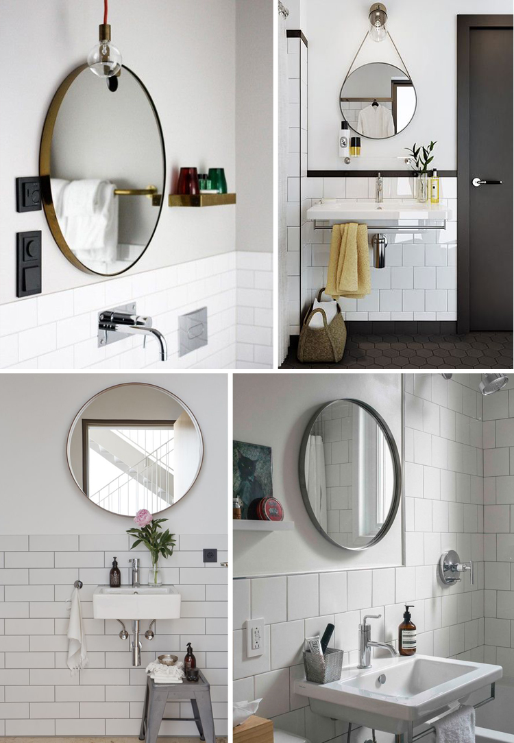 Round mirror for bathroom