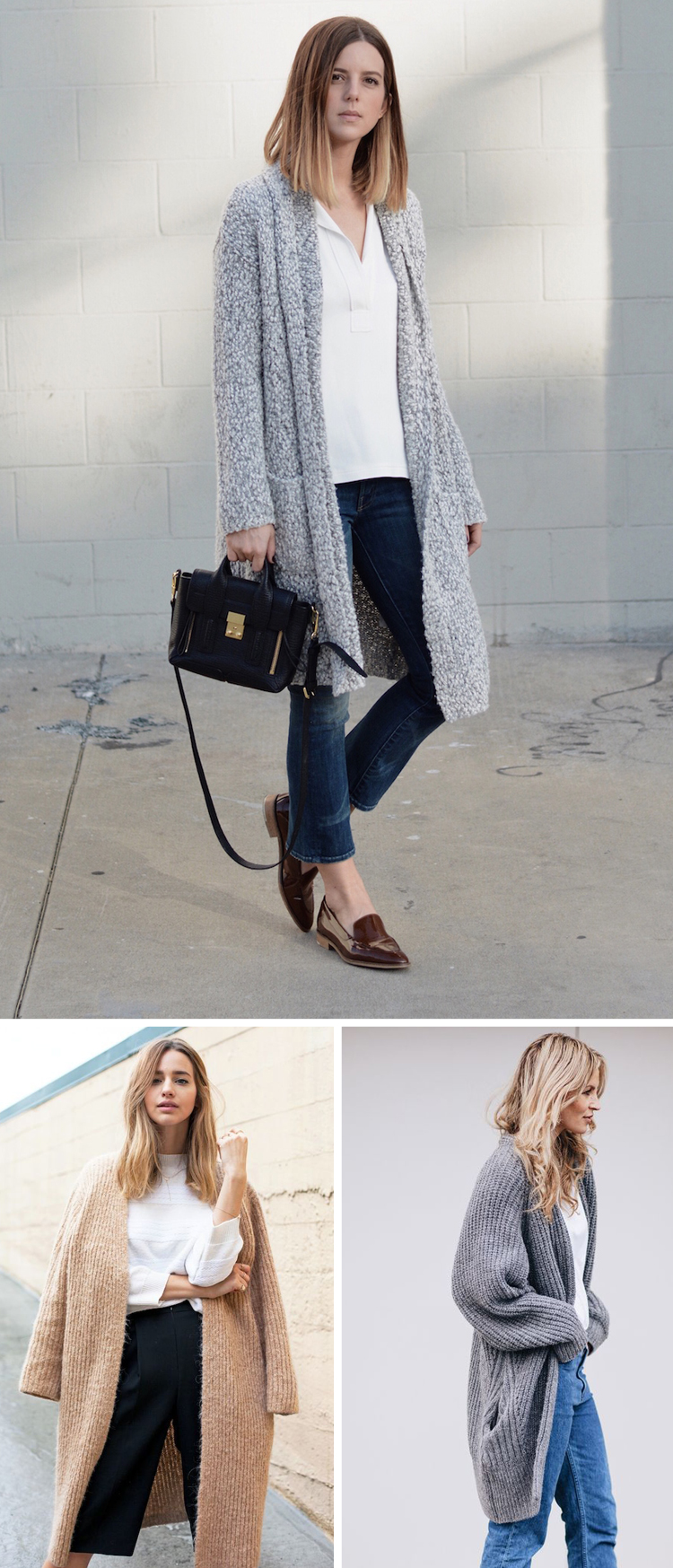 how to wear long cardigan sweater coats // Anne Sage