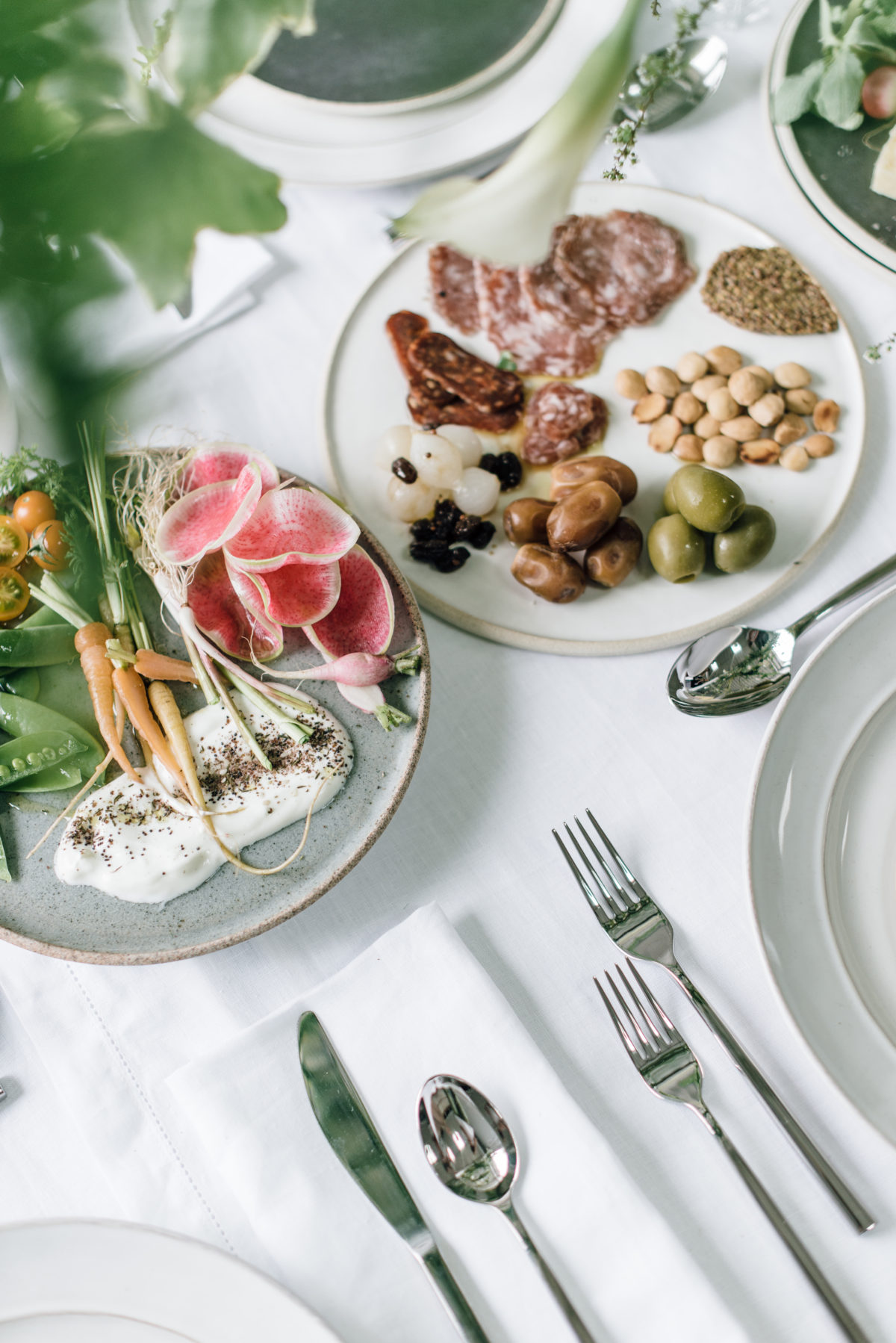 spring charcuterie plate and crudites via @citysage