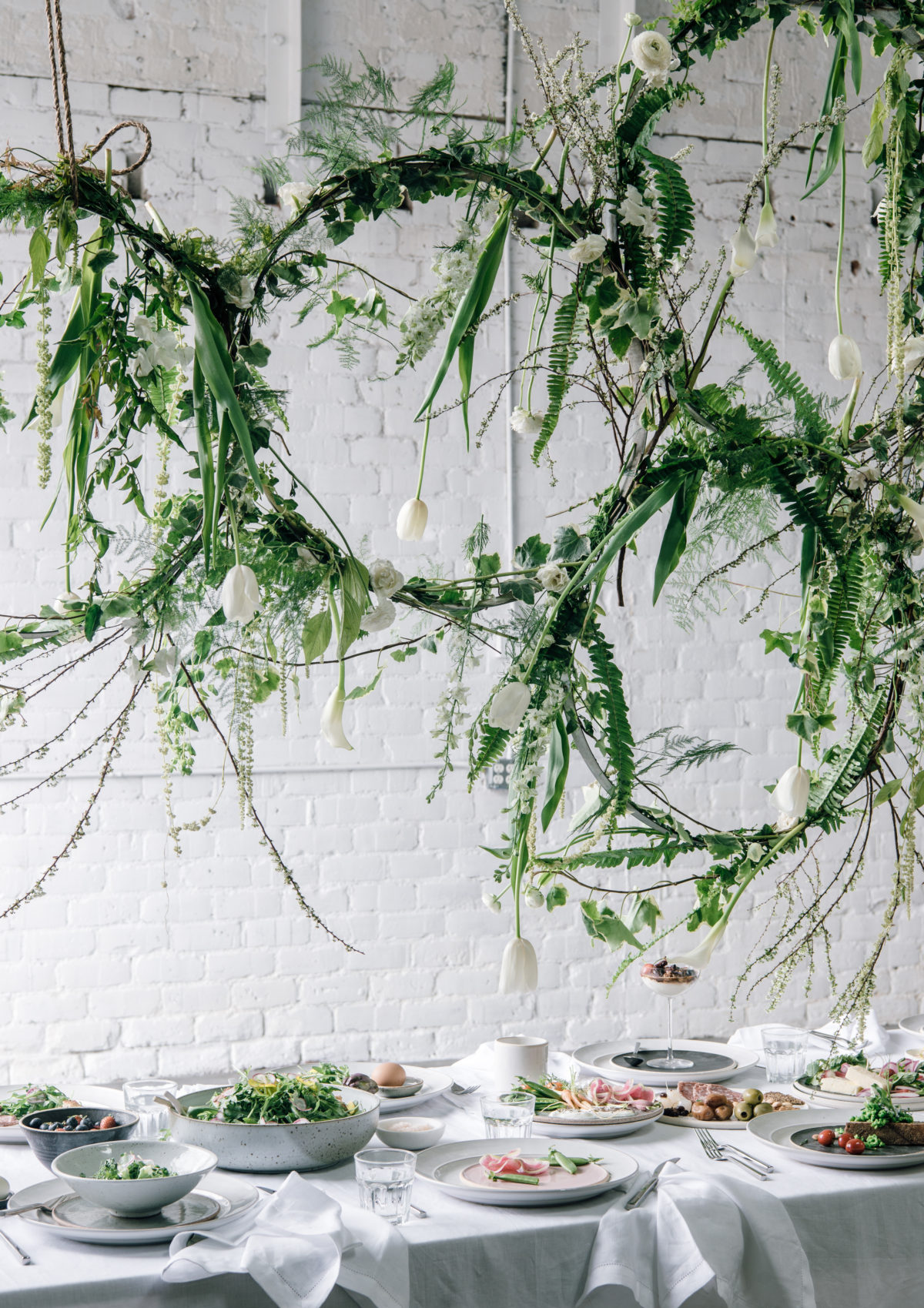 mother's day brunch ideas greenery floral