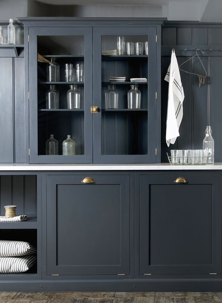 Kitchen design inspiration from devol kitchens anne sage for Dark grey kitchen units