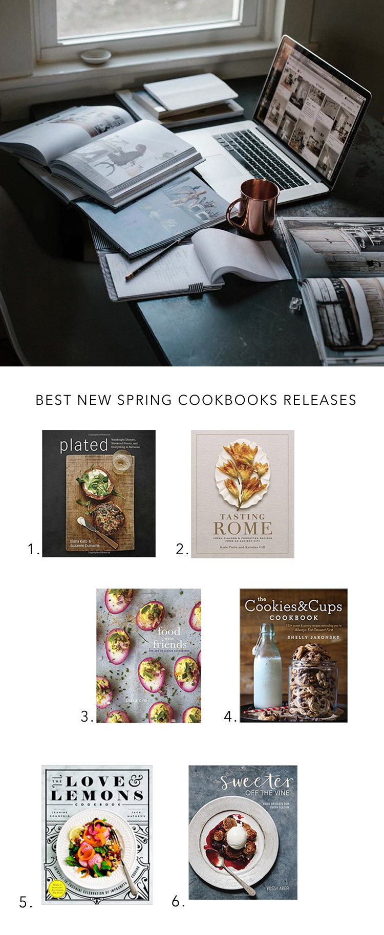best new cookbooks for spring via @citysage
