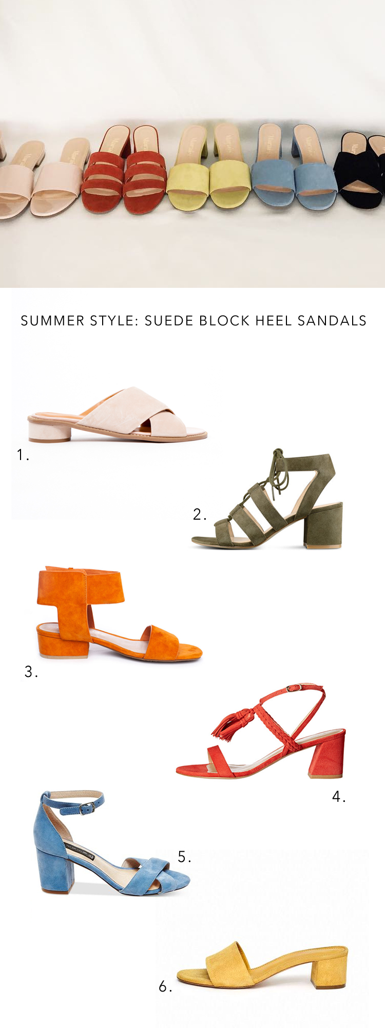 the best block heel suede sandals for summer via @citysage