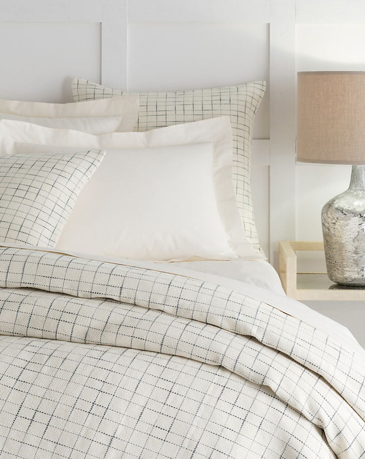 windowpane check bedding via @citysage