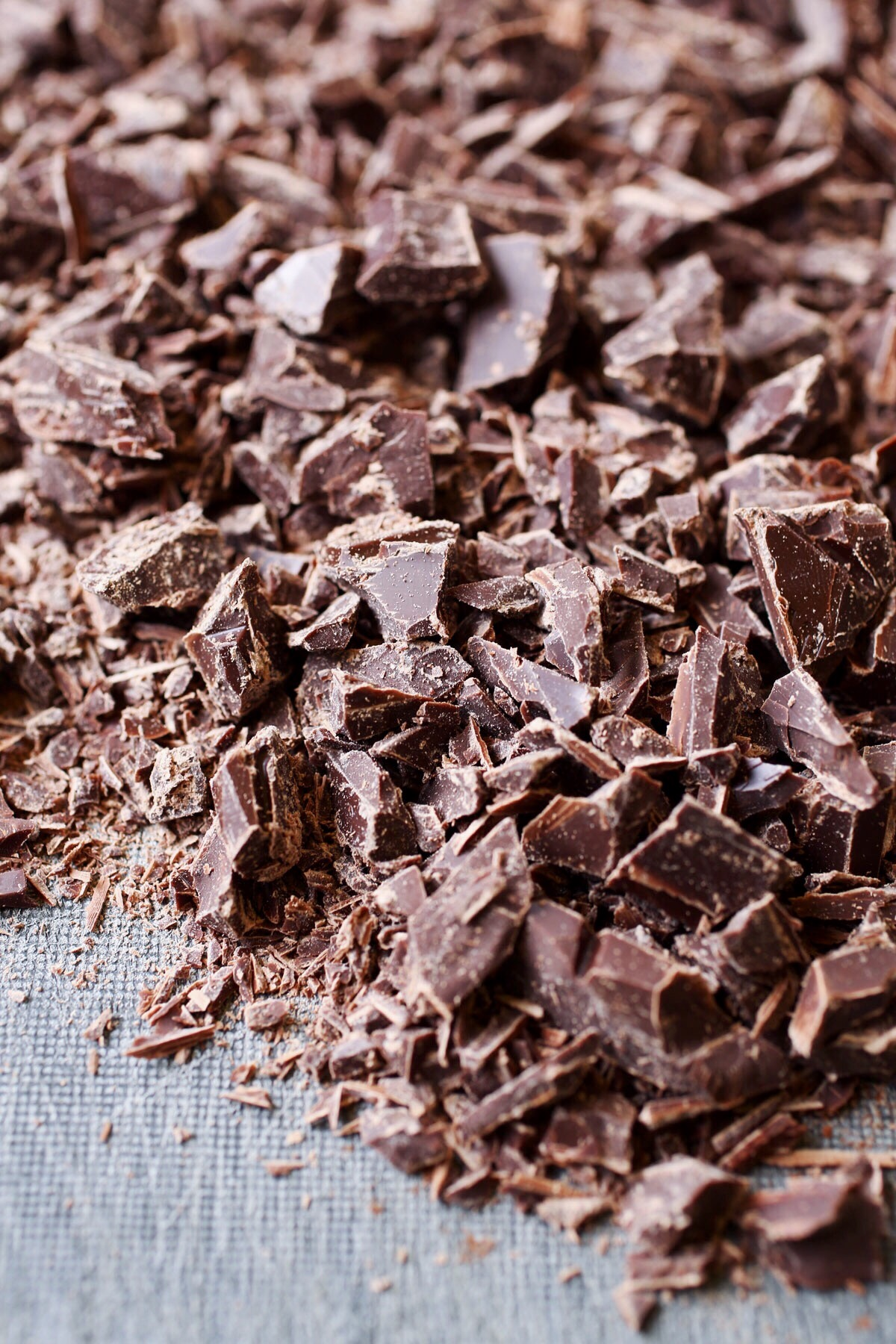 chopped chocolate for a traditional italian tiramisu recipe via @citysage
