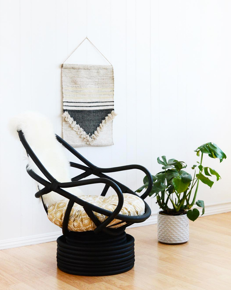 black rattan chair via @citysage