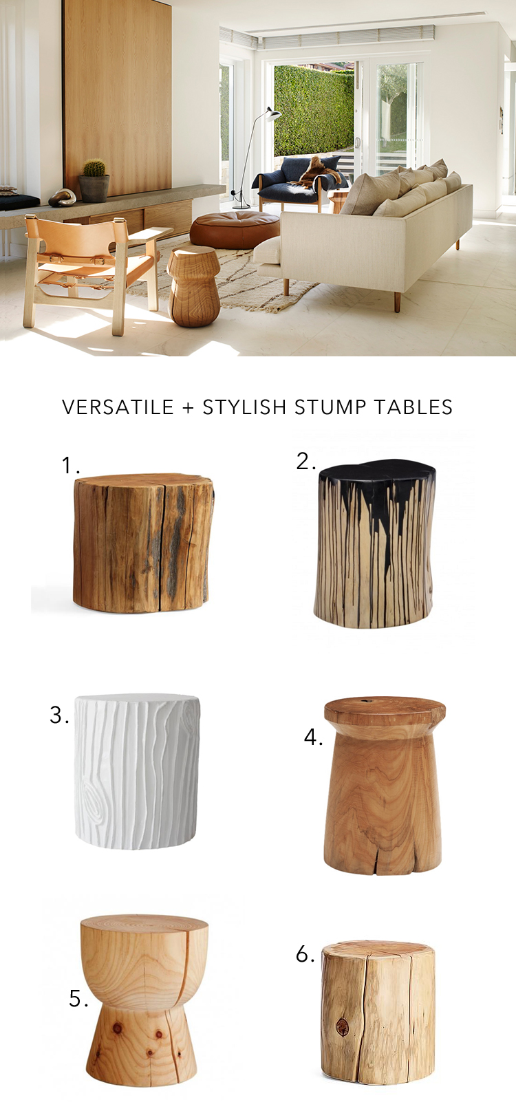 The Best Stump Tables For Modern And Boho Decor Via @citysage