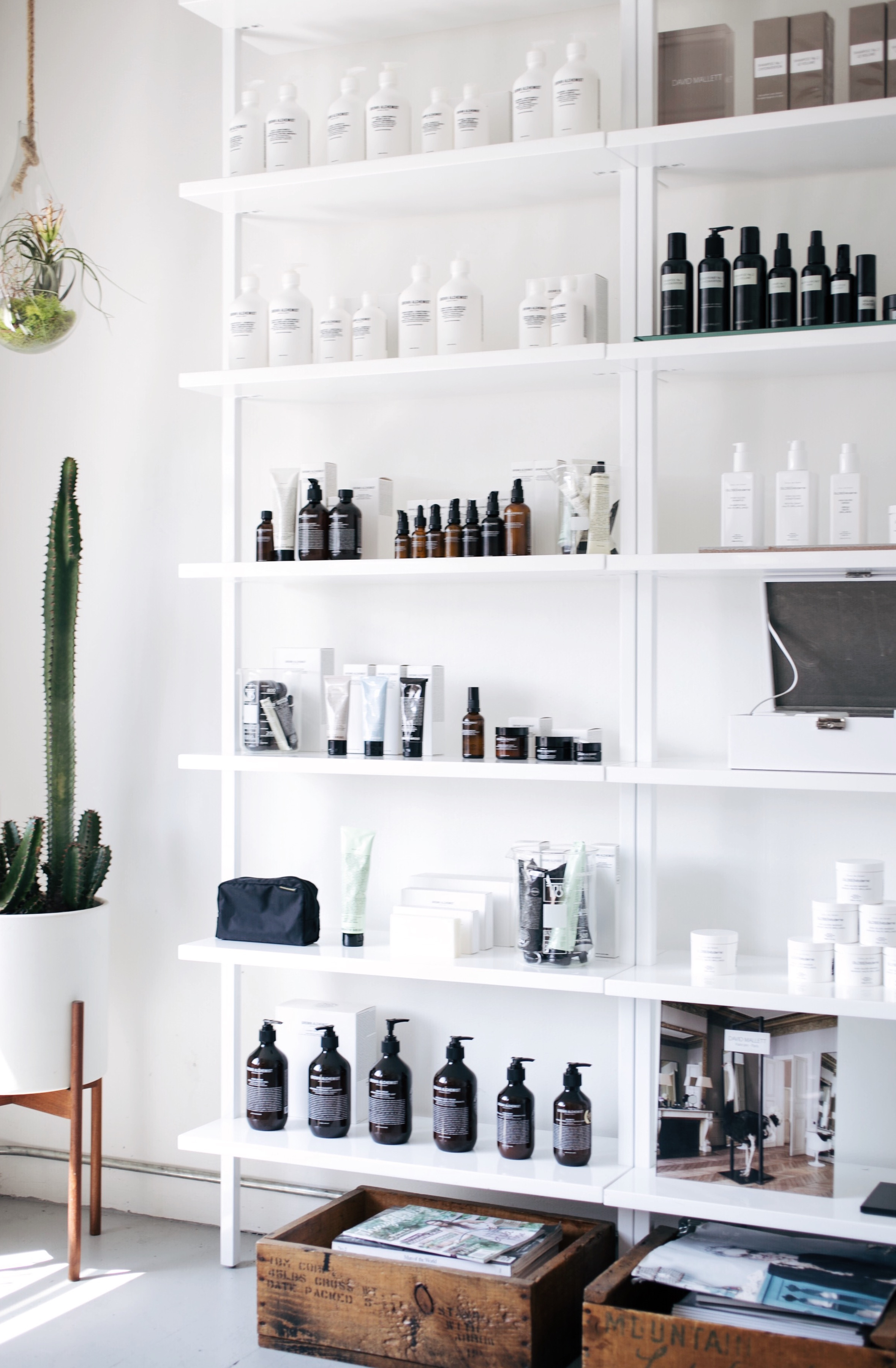 minimalist modern shelving with rustic decor touches // anne sage