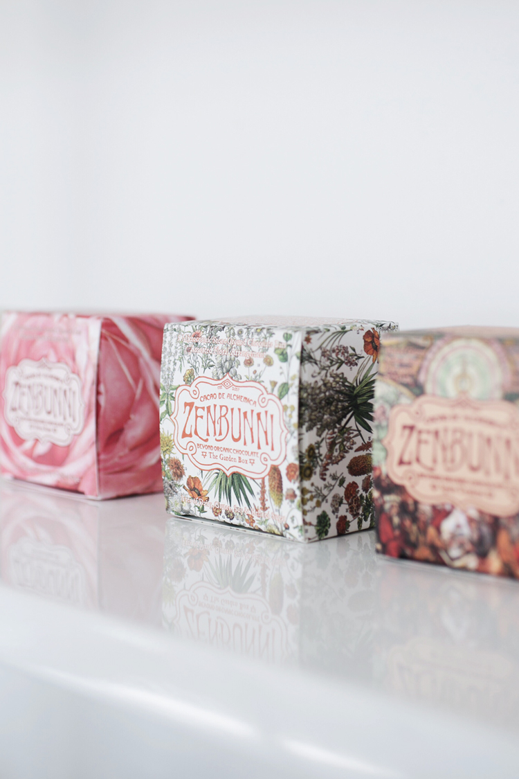 boho package design by zenbunni chocolates // anne sage
