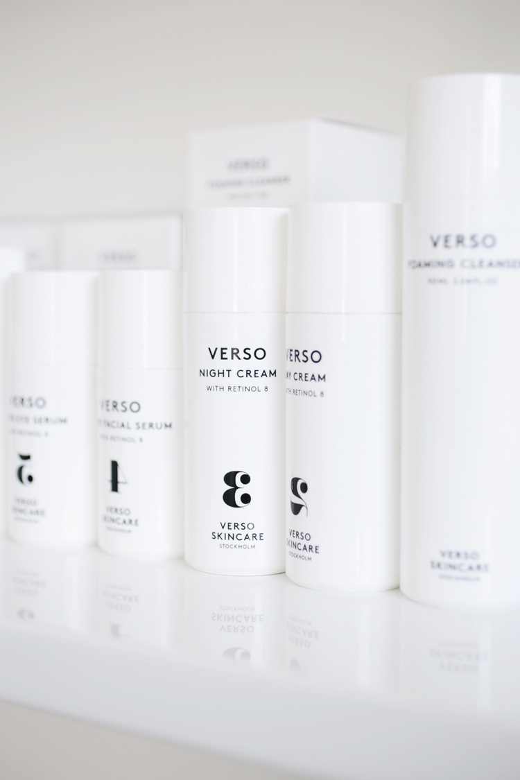 minimalist modern cosmetics packaging from verso skincare // anne sage