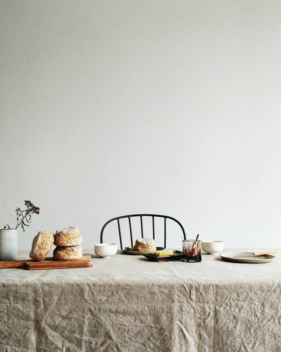 the perfect weekend morning + minimalist food styling