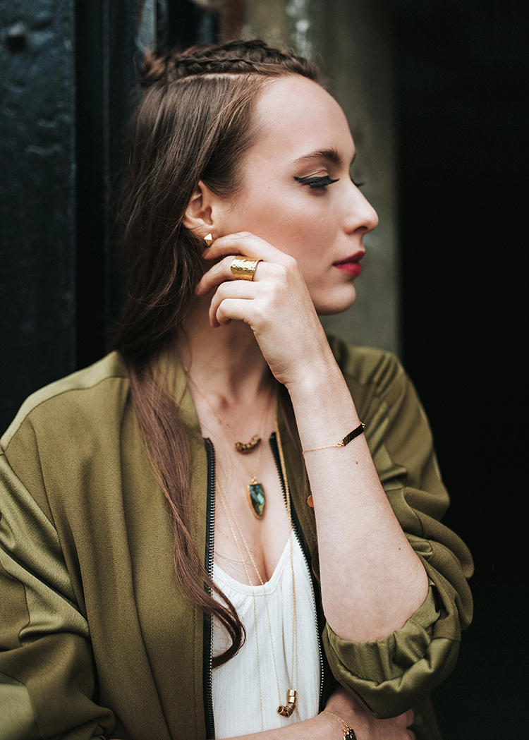 layered jewelry with organic modern edge // anne sage
