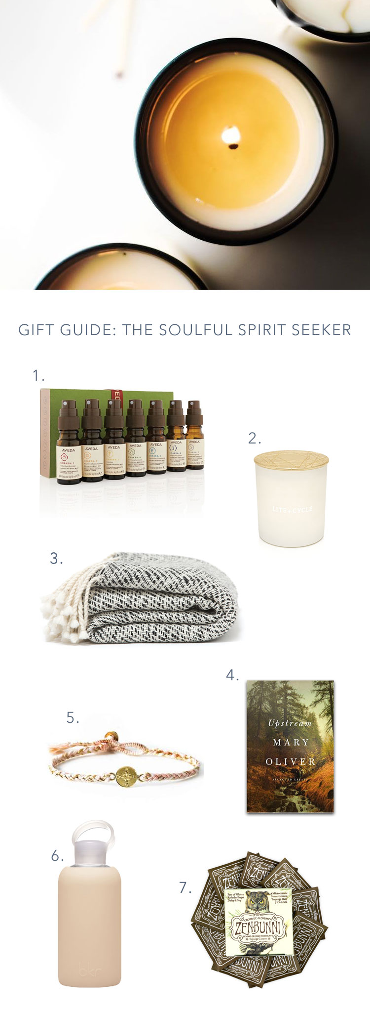 wellness and soulful self care gift guide // anne sage