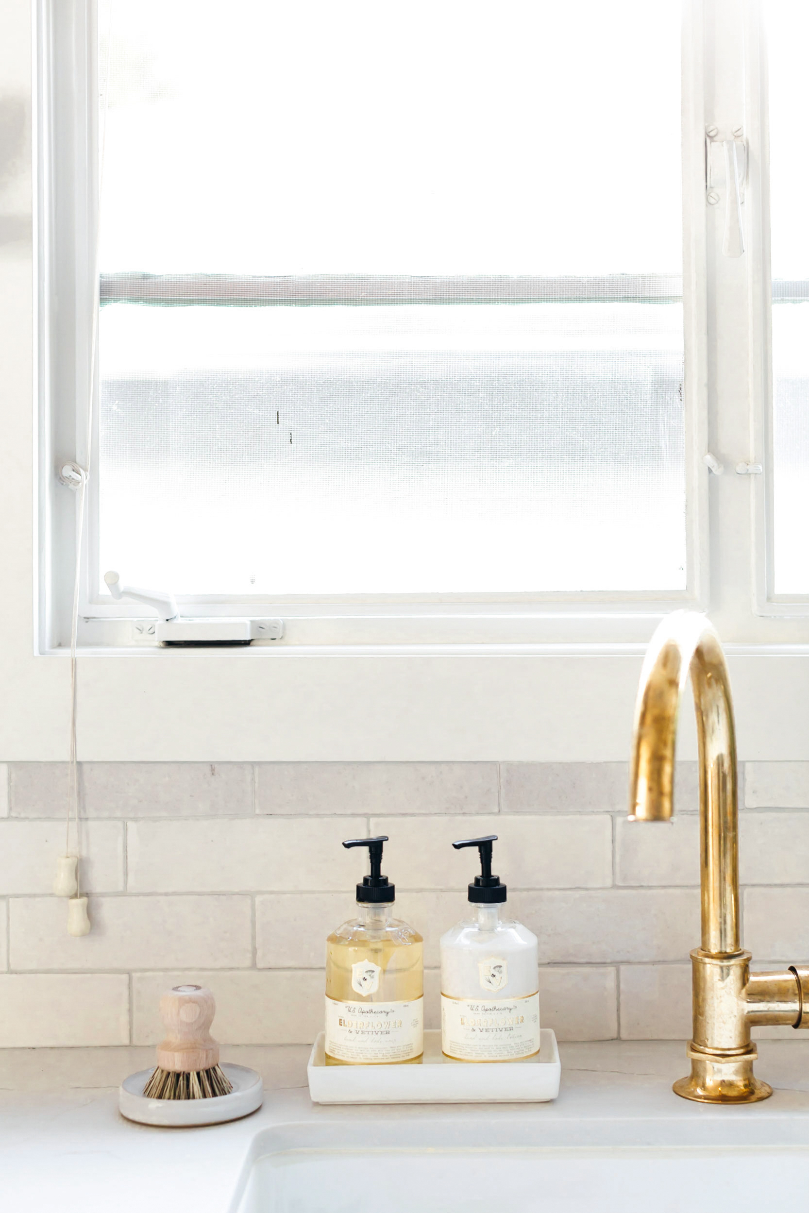 Our Kitchen Reno: Waterworks Brass Faucet + Farmhouse Sink