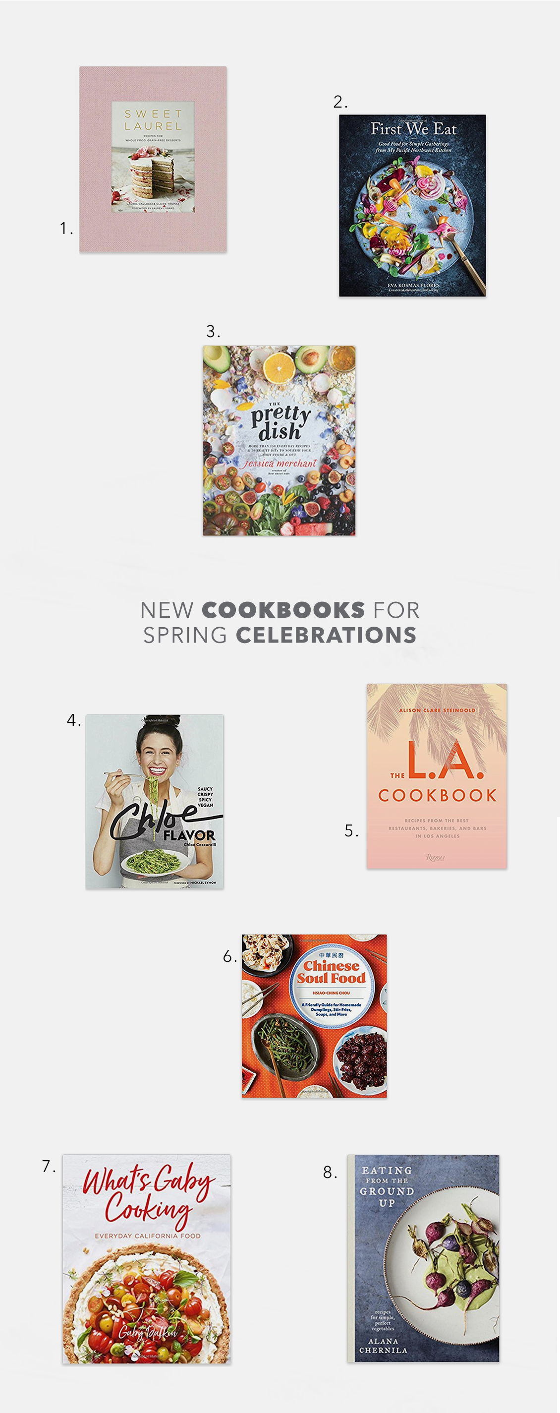 Bring Life to the Kitchen with New Spring 2018 Cookbook Releases
