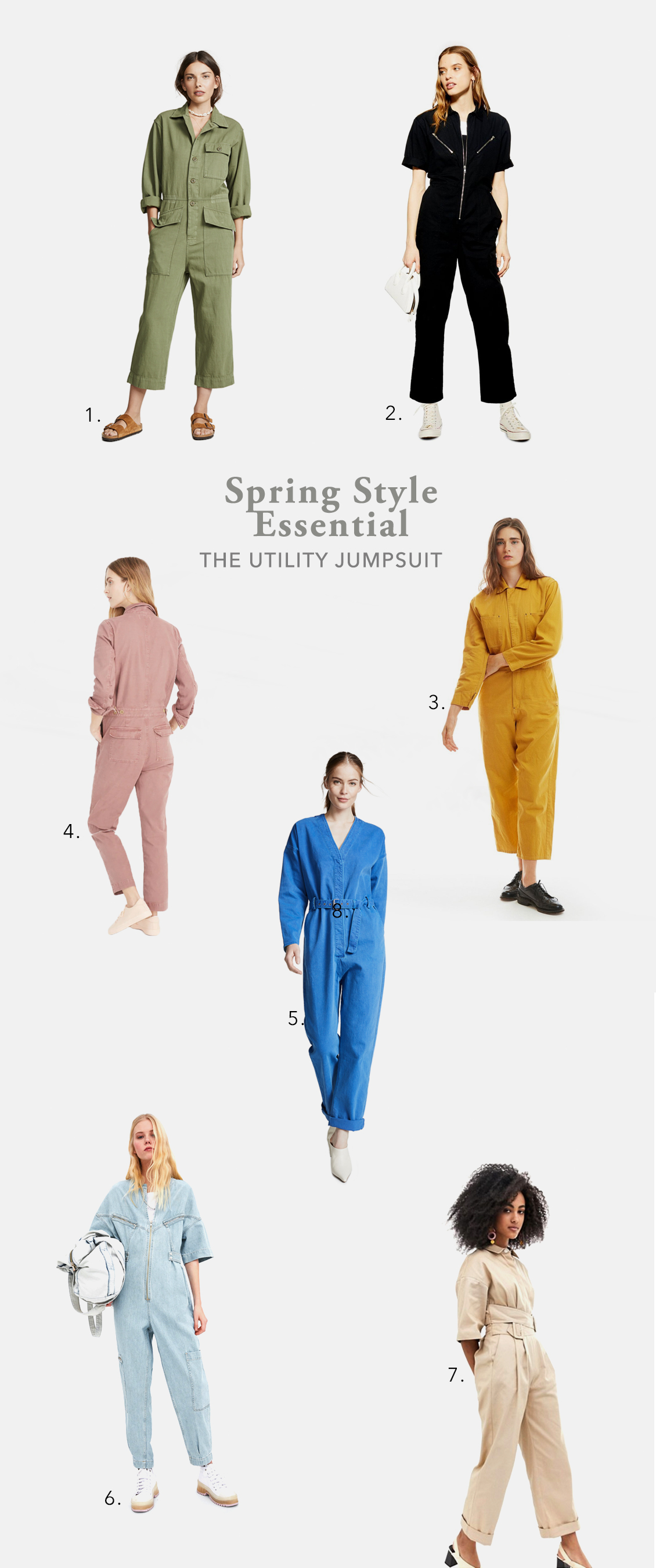 spring 2019 fashion boiler suit