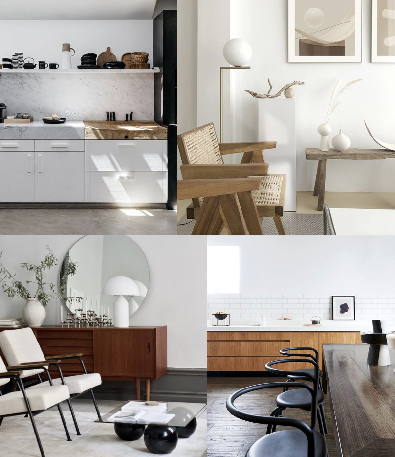 minimalist living room and dining room inspiration
