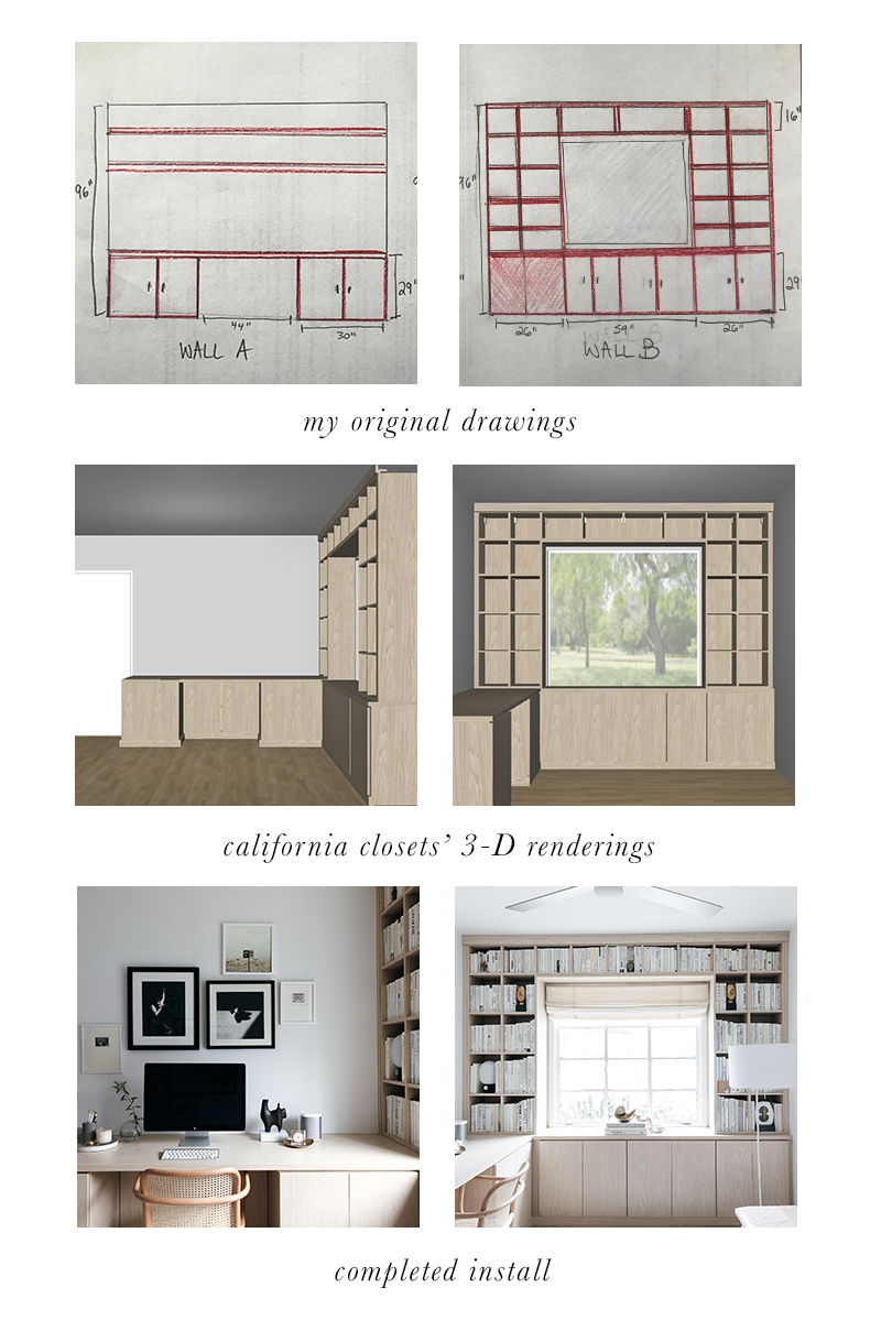 california closets design process for a neutral home office