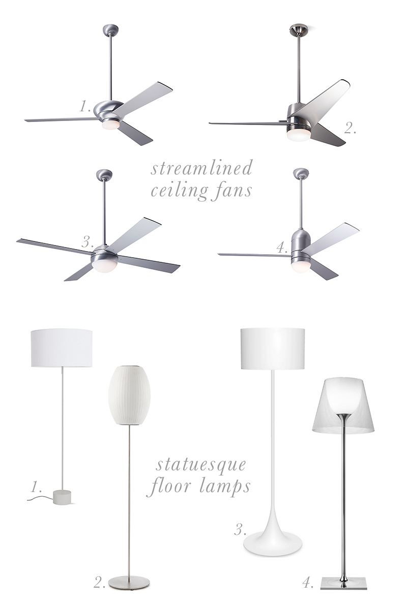 modern fans and lamps from design within reach