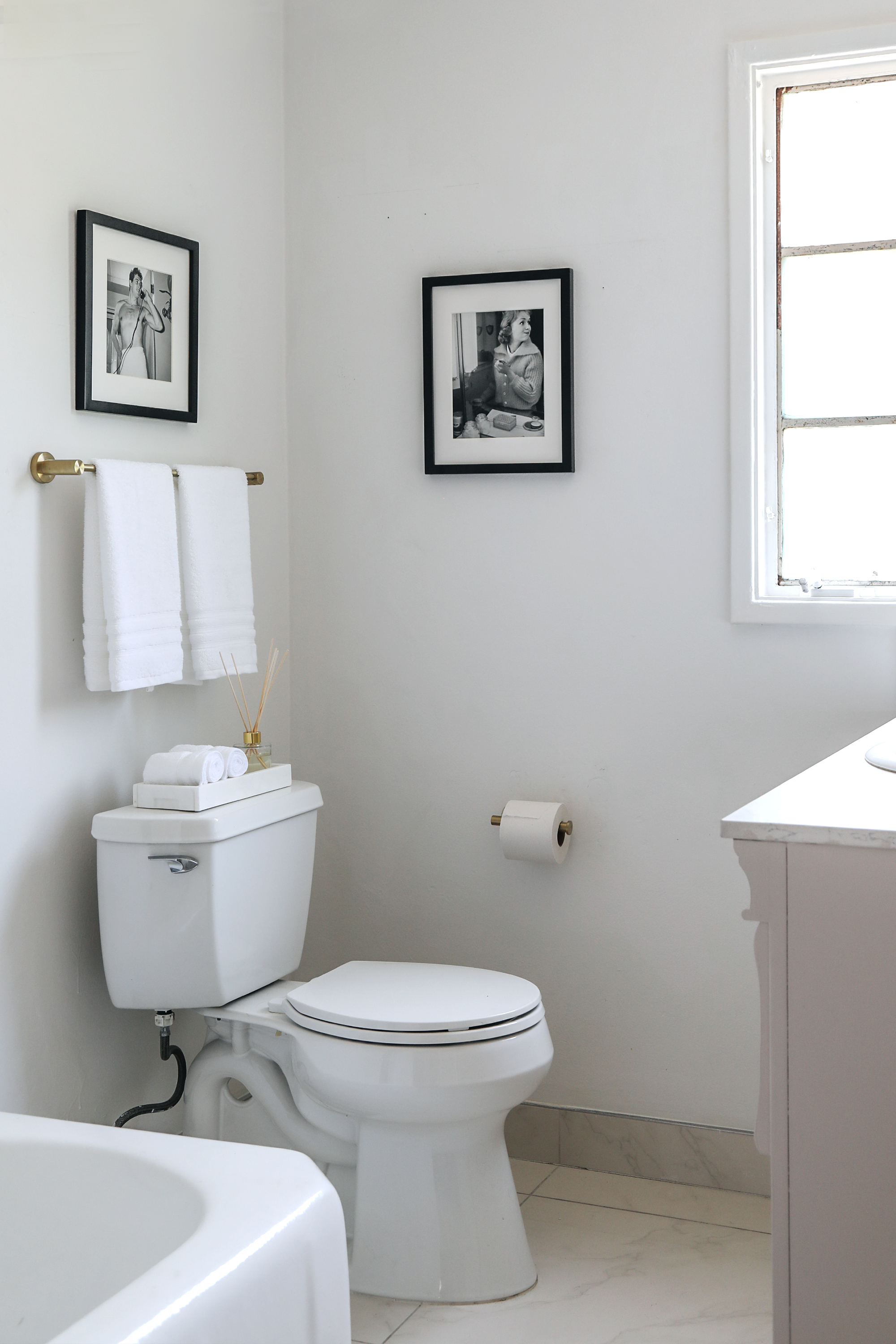 boutique hotel inspired budget bathroom makeover