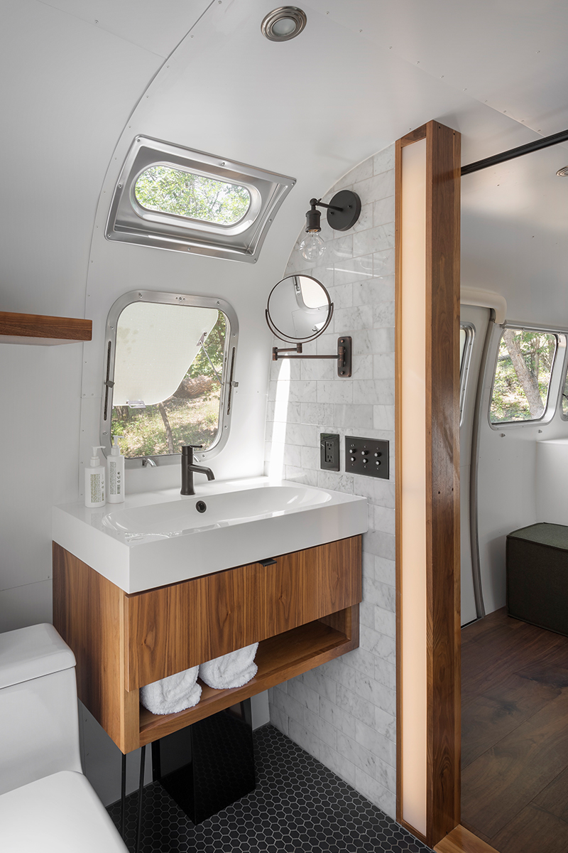 modern airstream bathroom