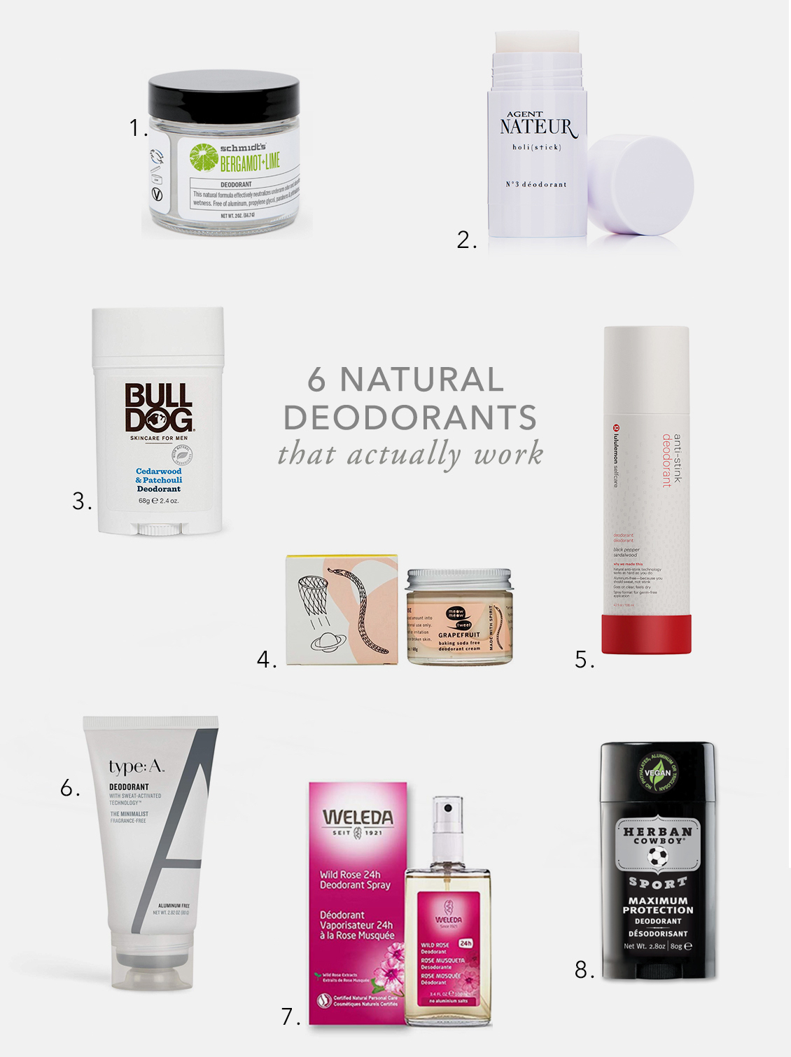 the best natural deodorants