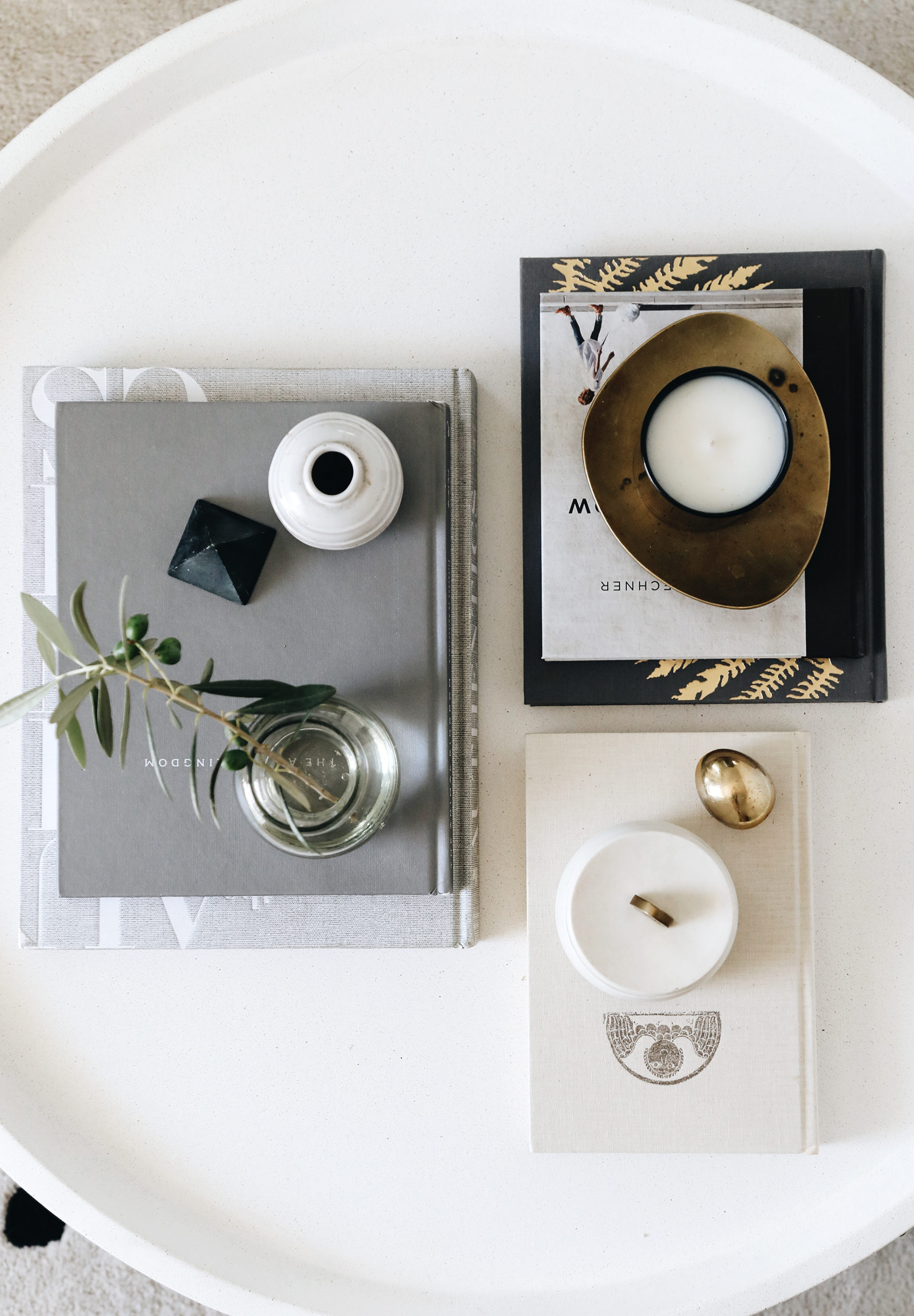 minimalist coffee table styling