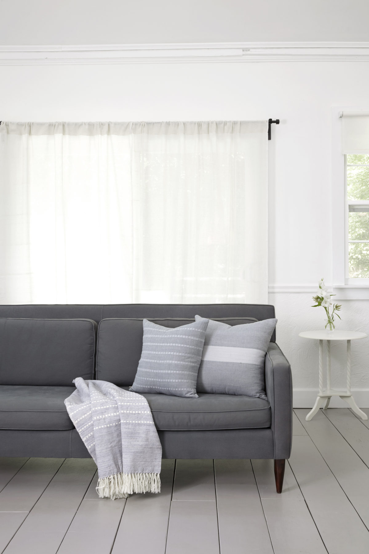 grey modern sofa scandinavian living room