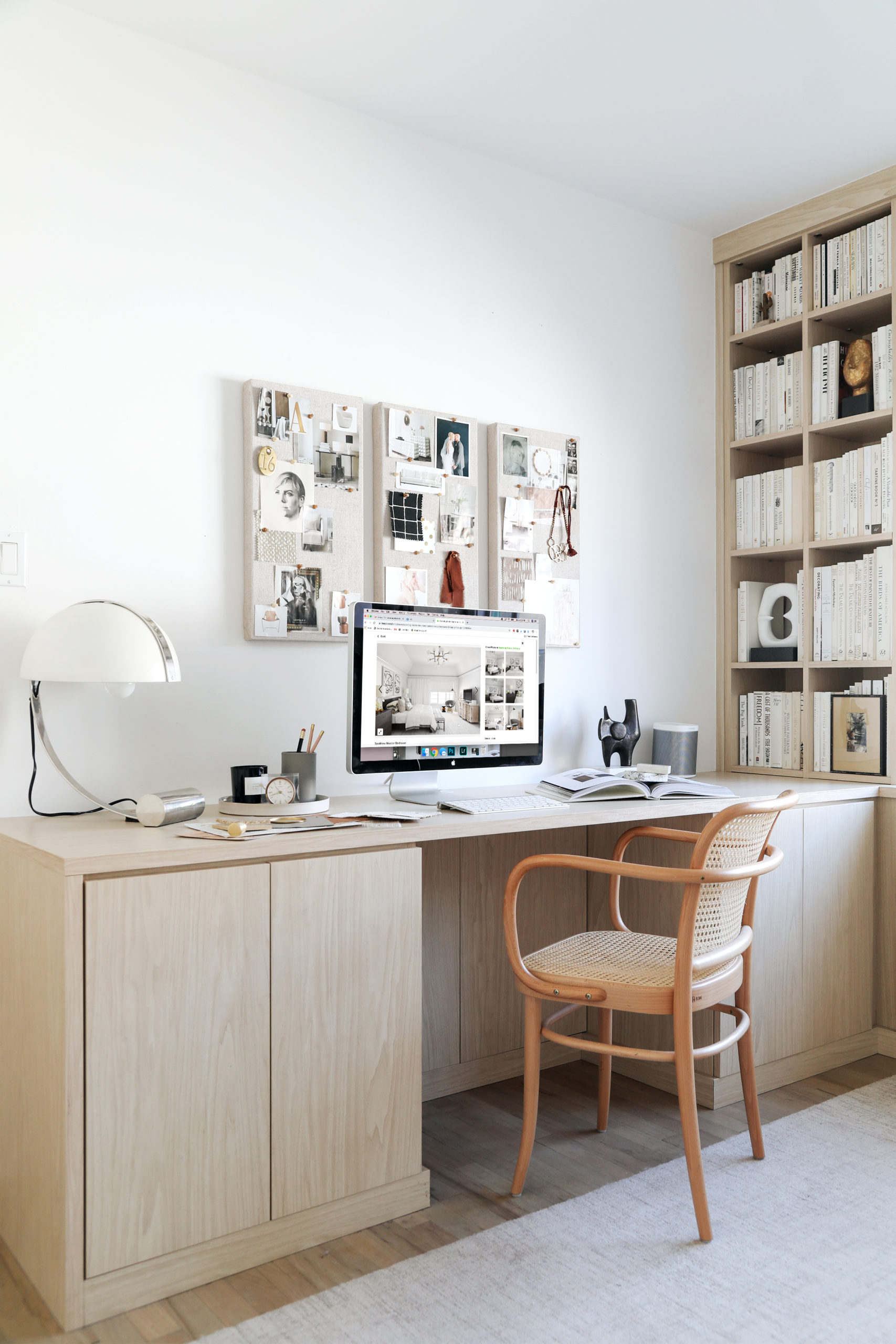 anne sage office with california closets built-in shelves