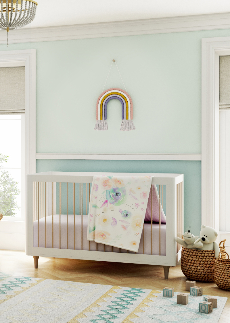 rainbow theme nursery design