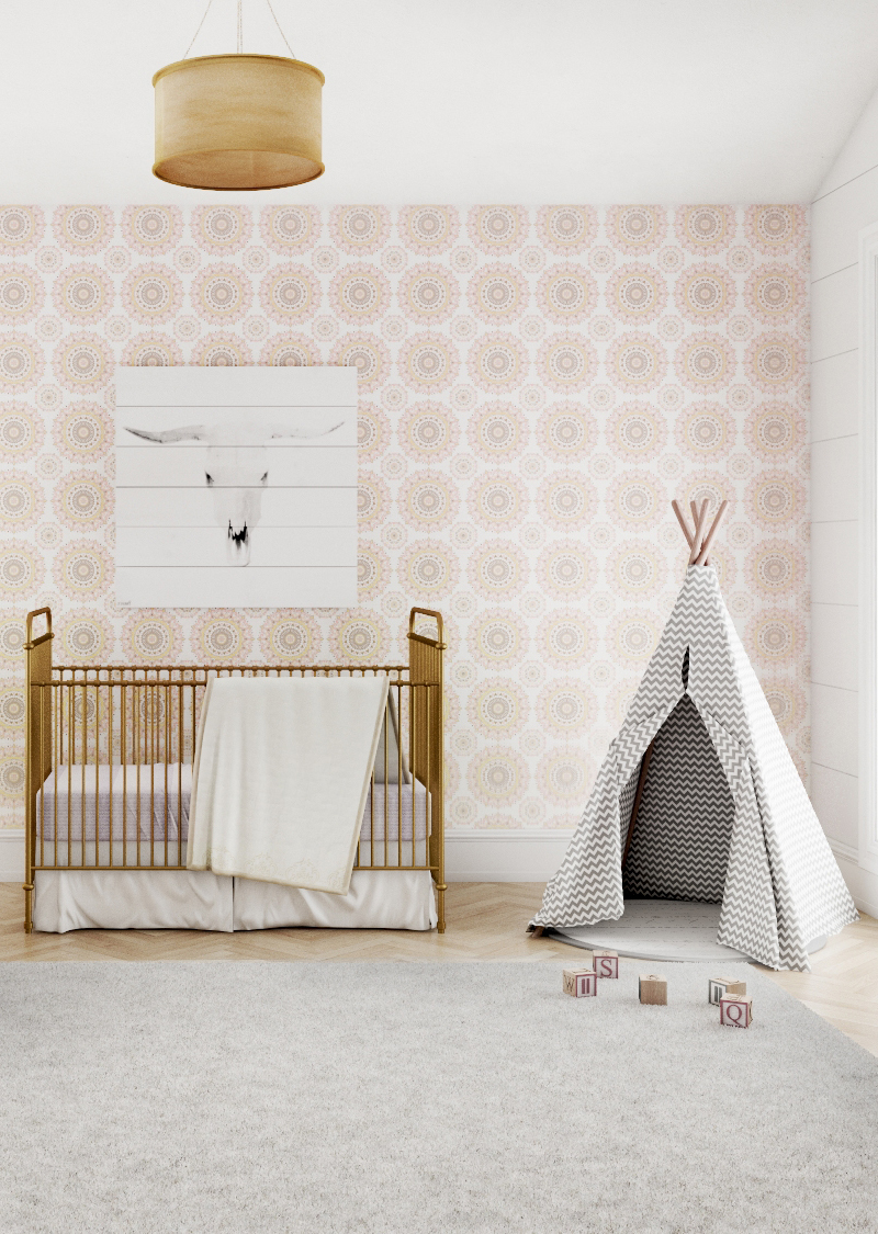 boho girls nursery design
